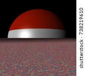 austria flag sphere and... | Shutterstock . vector #738219610