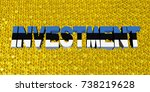 investment text with estonian... | Shutterstock . vector #738219628