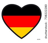 Flag Of Germany In The Shape Of ...