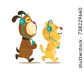 colorful friendship day... | Shutterstock .eps vector #738229660