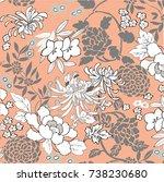 floral pattern | Shutterstock .eps vector #738230680