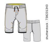 baby flat sketch template... | Shutterstock .eps vector #738231343