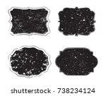 vector grunge labels.set of... | Shutterstock .eps vector #738234124