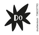 vector hand drawn inscription ... | Shutterstock .eps vector #738237793