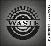 waste dark emblem | Shutterstock .eps vector #738239158