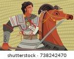 alexander the great mosaic... | Shutterstock .eps vector #738242470