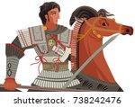 alexander the great mosaic... | Shutterstock .eps vector #738242476