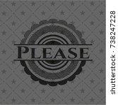 please retro style black emblem   Shutterstock .eps vector #738247228