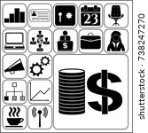 set of 17 business icons ...   Shutterstock .eps vector #738247270