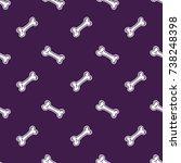 halloween pattern. seamless...   Shutterstock .eps vector #738248398