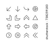 icon set of miscellaneous arrows | Shutterstock .eps vector #738259183