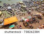 varanasi  india  october 13...   Shutterstock . vector #738262384