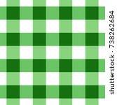 green gingham tablecloth...   Shutterstock .eps vector #738262684