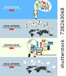 social network vector concept.... | Shutterstock .eps vector #738263068