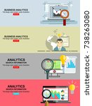 .business analytic graph report ... | Shutterstock .eps vector #738263080