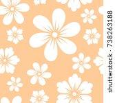 flower seamless pattern...   Shutterstock .eps vector #738263188