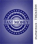 fast money emblem with jean...   Shutterstock .eps vector #738263344