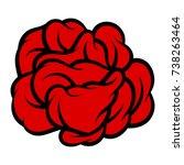 red rose isolated on white...   Shutterstock .eps vector #738263464