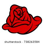 red rose isolated on white...   Shutterstock .eps vector #738263584
