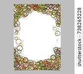 color abstract random circle...   Shutterstock .eps vector #738265228