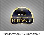 gold emblem with flowchart...   Shutterstock .eps vector #738265960