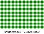 green gingham tablecloth...   Shutterstock .eps vector #738267850