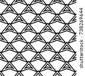 geometric ornament. black and...   Shutterstock .eps vector #738269644