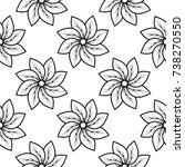 black floral ornament on white...   Shutterstock .eps vector #738270550