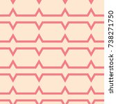 red and beige geometric...   Shutterstock .eps vector #738271750