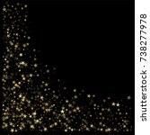 sparkling gold stars background ... | Shutterstock .eps vector #738277978
