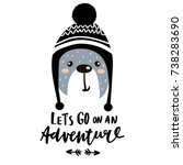 let's go on an adventure hand... | Shutterstock .eps vector #738283690