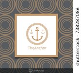 three anchor emblem with...   Shutterstock .eps vector #738287086