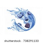 hand drawn watercolor vibrant... | Shutterstock . vector #738291133