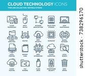 cloud omputing. internet... | Shutterstock .eps vector #738296170