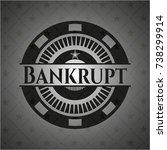 bankrupt dark emblem | Shutterstock .eps vector #738299914