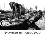 old dhaka dockyard  buriganga... | Shutterstock . vector #738301930