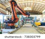 factory 4.0 concept. industrial ... | Shutterstock . vector #738303799
