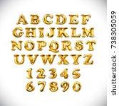 raster copy english alphabet...   Shutterstock . vector #738305059