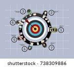 flat design illustration... | Shutterstock .eps vector #738309886