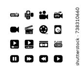 media player  video camera and...   Shutterstock .eps vector #738310660
