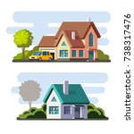 tamplate of real estate ... | Shutterstock .eps vector #738317476