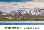 Small photo of Song Kul - high alpine lake in the Tian Shan Mountains of Kyrgyzstan