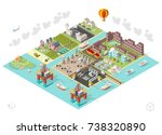 set of isometric high quality... | Shutterstock .eps vector #738320890