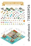 set of isometric high quality... | Shutterstock .eps vector #738320926