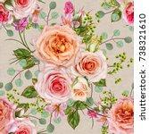 floral seamless pattern. flower ... | Shutterstock . vector #738321610