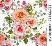 floral seamless pattern. flower ... | Shutterstock . vector #738321733