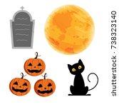 character for halloween day... | Shutterstock .eps vector #738323140