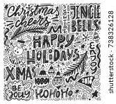 complex christmas lettering.... | Shutterstock .eps vector #738326128