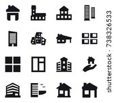 16 vector icon set   home ... | Shutterstock .eps vector #738326533