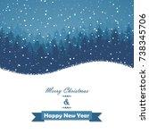 winter christmas forest  | Shutterstock .eps vector #738345706